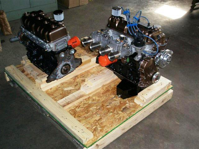 Two BRD Racing High Compression Race Motors being crated for shipping