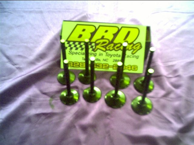 BRD Racing: Custom 2TC and 3TC Titanium Valves